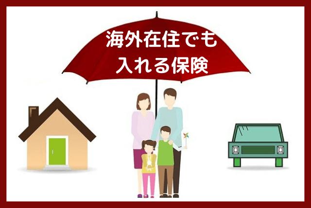海外在住でも入れる保険